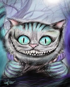Cheshire Cat from Alice in Wonderland Drawing 8x10 by RyanBiddle, $9.99