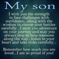 Moon Quotes Discover 10 Best Mother And Son Quotes Sons are a blessing and here are 10 quotes for mothers to express their love. We capture the love a mother feels for her son with the I love my son quotes. Love My Son Quotes, I Love My Son, Great Quotes, Quotes To Live By, Life Quotes, Quotes Quotes, Mother Son Quotes, Super Quotes, Mothers Love For Her Son