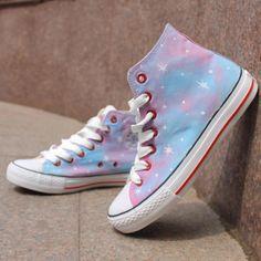 Pink Stars Tie Dye Sneakers