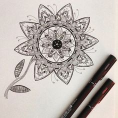 "Silly quote of the day: ""If you don't have it, get it"" 🤔 I've got new black pencils which are much finer than the others. 🖌So now I can draw mandalas with more little details, yiiiiha 🙌🏼"
