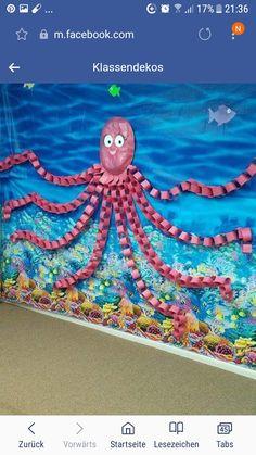 Unter dem Meer - Riesenkrake - Under the Sea Crafts - Unter dem Meer – Riesenkrake - Kids Crafts, Summer Crafts, Preschool Crafts, Arts And Crafts, Octopus Crafts, Ocean Crafts, Octopus Octopus, Under The Sea Crafts, Under The Sea Theme