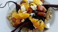 The Pescatarian Cook: Roasted Bunched Beetroot, Quinoa and Feta Salad