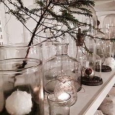 clear glass and white candles...B I S K O P S G Å R D E N on Bloglovin