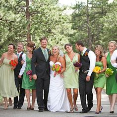 Mismatched bridesmaids dresses done right. But I'm curious, ever seen this go wrong?