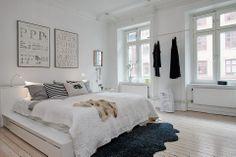 Mieszkanie W Skandynawskim Stylu. Schlafzimmer Skandinavisches ...