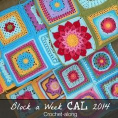Block a Week CAL. Free patterns for squares. Loving all of them. Especially the colors!