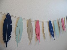 Tribal Baby Shower  Feather Tribal Banner  Tribal by KatlinLee123