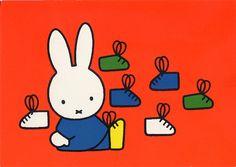Dick Bruna – Miffy can't find the right fit Book Cover Design, Book Design, Dutch Rabbit, Cartoon Tv Shows, Miffy, Kawaii, Dutch Artists, Cute Creatures, Childrens Books
