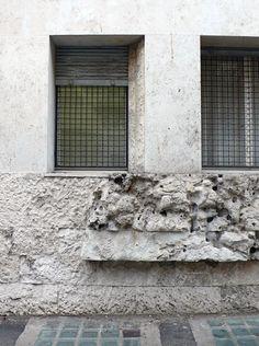 Luigi Moretti, Casa 'il Girasole', Rome, 1949 (west side, detail)