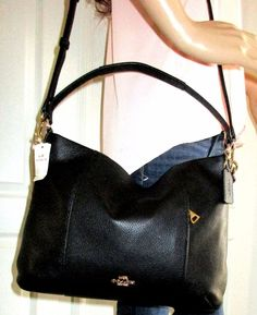 NWT Coach Metallic Leather Harley Hobo Crossbody Shoulder Bag ...