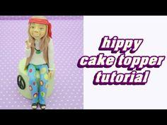 how to make hippy caricature cake topper torta pasta di zucchero personaggio tutorial viso e corpo - YouTube