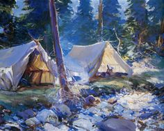 BENSON, Frank Weston American Impressionist (1862-1951)_The Camp-1925