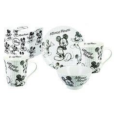 Frühstücksset MICKEY DISNEY PORZELLAN PLATE 1 1 + 1 große Tasse MUG GIFT Walt Disney, Invitations, Mugs, Childcare, Amazon, Gift, Collection, Ideas, Tinkerbell