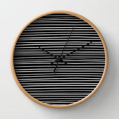 Stripes+Wall+Clock+by+Priscila+Peress+-+$30.00
