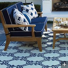 nautical rope outdoor rug