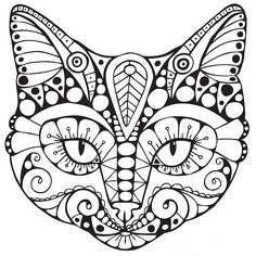 Small Coloring Pages Cats Adult
