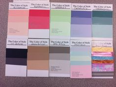 These are personal colors, selected by David Zyla, a color and style consultant and Emmy Award-winning costume designer.