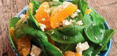 Sałatka z młodego szpinaku i mandarynek Cantaloupe, Fruit, Food, Essen, Meals, Yemek, Eten