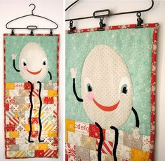 Humpty Dumpty by Julie Comstock for Moda I want the hanger and then I want to make my Dolly Momma Squares into a Quilt Hanging.