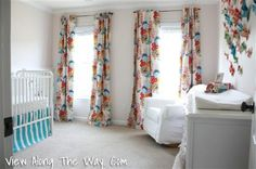 Girl Nursery Summer Totem Curtains