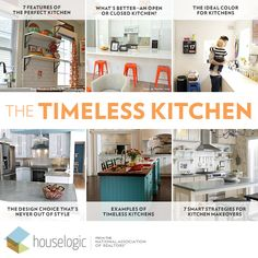 Go with these classic elements for an enduring #kitchen style.