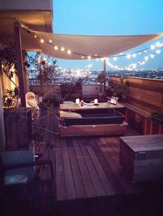 Cafe Interior, Home Interior Design, Roof Balcony, Patio Privacy, Patio Shade, Colorful Decor, My Dream Home, Outdoor Living, New Homes