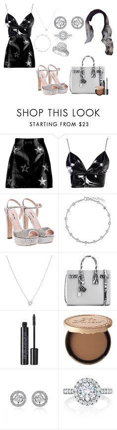 """Love You Like a Love Song"" by moonlightbabby ❤ liked on Polyvore featuring Boohoo, Miu Miu, BERRICLE, Roberto Coin, Yves Saint Laurent, Urban Decay, Too Faced Cosmetics and Henri Daussi"
