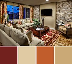 11 Cozy Living Room Color schemes to make color harmony in your living room - Interior Paint Colors For Living Room, Interior House Colors, Living Room Color Schemes, Paint Colors For Home, Living Room Colors, Cozy Living Rooms, Bedroom Colors, Home Living Room, Living Room Designs