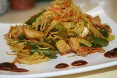Macaroni Spaghetti, Japchae, Meat, Chicken, Cooking, Ethnic Recipes, Lasagna, Kitchen, Brewing