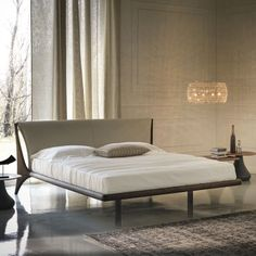 Nelson Modern Italian Bed by Cattelan Italia Wooden Bedroom, Bedroom Furniture, Furniture Design, Modern Furniture, Modern Beds, Luxury Furniture Stores, Luxury Italian Furniture, Furniture Showroom, Leather Headboard