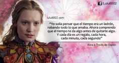 Frases de Alicia a Través del Espejo - lulu6002 | Frases de Doramas | Frases KPOP | Frases de Libros Words Can Hurt, Alice And Wonderland Quotes, Short Words, Through The Looking Glass, Disney Quotes, Spanish Quotes, Movie Quotes, Beautiful Words, Qoutes