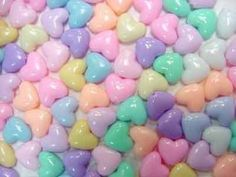 - EXTRA INSPIRTATION #3:  Plastic  Pastel hearts fits with the soft pop trend.