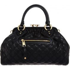 Marc Jacobs Quilted Stam Bag - Black discovered on Fantasy Shopper Latest Handbags, Louis Vuitton Speedy Bag, Louis Vuitton Damier, Next Purses, Top Designer Bags, Marc Jacobs Purse, Quilted Leather, Luxury Shoes, Style