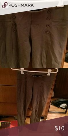 Olive green High waist leggings Sorry for the wrinkles! They have been in a drawer. Ci somo  Pants Leggings