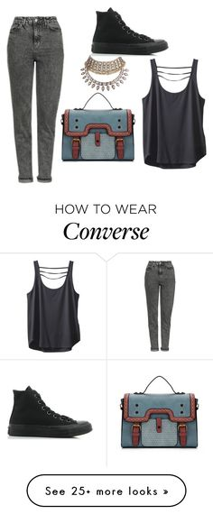"""Untitled #480"" by ikgidda on Polyvore featuring Topshop, Converse and Kavu"