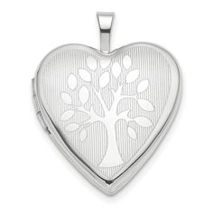 *Extra 10% off on our store plus No Shipping Charges Both Ways! Period. 14K White Gold 20... Check it out here! http://shirindiamond.net/products/14k-white-gold-20mm-tree-heart-locket?utm_campaign=social_autopilot&utm_source=pin&utm_medium=pin