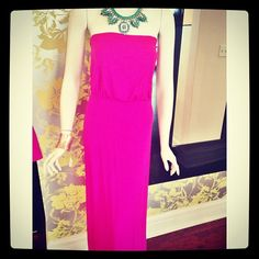 Prom perfect! Obsessed with this new Susana Monaco maxi dress #prom #neonpink #maxi #summerlovin #style