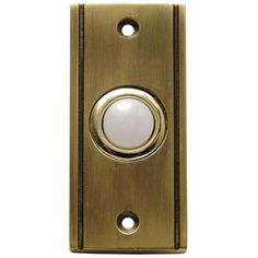 Thomas & Betts/Carlon Wired Door Bell with Lid Button Finish: Antique Brass