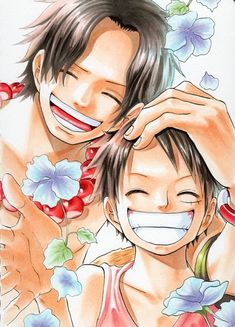 One piece - Ace & Luffy Anime One Piece, One Piece Ace, One Piece Series, One Piece Fanart, One Piece Luffy, One Piece Pictures, One Piece Images, Manga Anime, Manga Girl