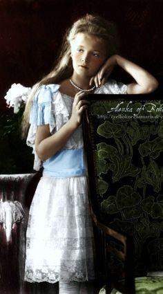 Beautiful Grand Duchess Olga, daughter of Tsar Nicholas II