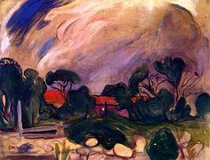 Edvard Munch - Stormy Landscape, 1902/3
