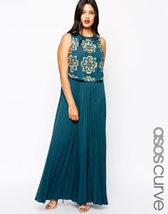 ASOS+CURVE+Exclusive+RED+CARPET+Maxi+Dress+with+Pleated+Skirt+&+Jewelled+Bodice