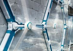 Wind turbines for the house. Add several of these small turbines to a wall to……