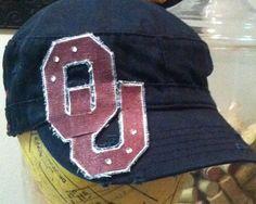 Oklahoma Sooners Cadet Hat. $30.00, via Etsy.
