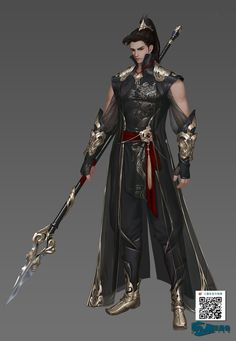 weapon design references: Polearm feels like it would suit Haku Fantasy Character Design, Character Design Inspiration, Character Concept, Character Art, Special Characters, Fantasy Characters, Dnd Characters, Fantasy Male, Fantasy Armor