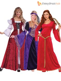 Maid Marion and Medieval Princess costumes available in one size, designed to fit UK size 10 - 14. The Maid Marian dress is made from stretchy material and features a tie behind the waist to adjust it to fit a variety of sizes.   eBay!