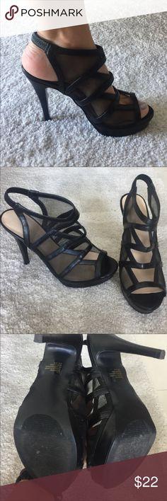 Nine West Black dressy sandal Black sandal with a heel only wore a few times excellent shape Nine West Shoes Sandals