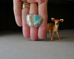 Turquoise Ring,  Keshi Pearl,  Sterling Silver, Morenci Turquoise, Pyrite, Statement Ring