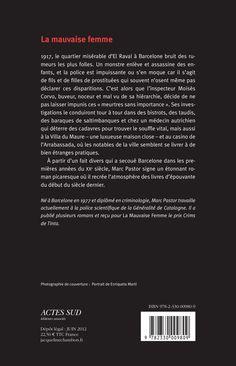 Jacqueline Chambon Noir - 2012-06 - Marc Pastor - La Mauvaise Femme - Verso