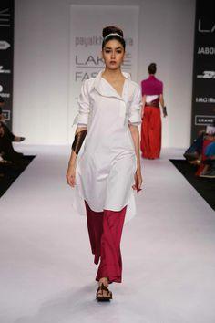 Payal Khandwala kurta at Lakme Fashion Week Summer/Resort 2014 Mumbai Lakme Fashion Week, India Fashion, Ethnic Fashion, Asian Fashion, Pakistani Dresses, Indian Dresses, Indian Outfits, Indian Attire, Indian Ethnic Wear